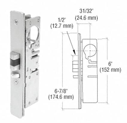 crl 31 32 backset narrow stile left hand deadlatch lock door lock rh amazon com Parts of a Deadlatch Deadlatch Assembly Repair