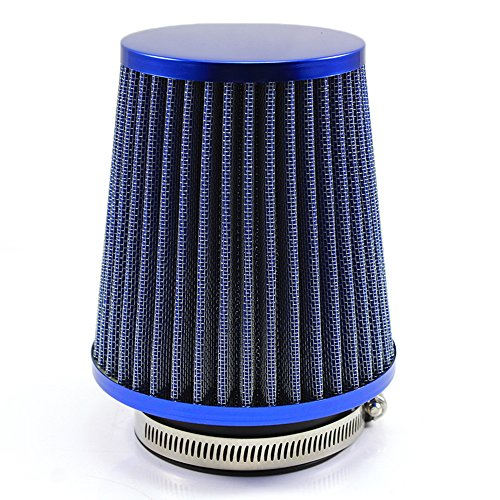 RUICK Universal Car Air Filter 3 Inch Cold Air INTAKE Supercharger for 76mm Intake Hose ... (Blue):