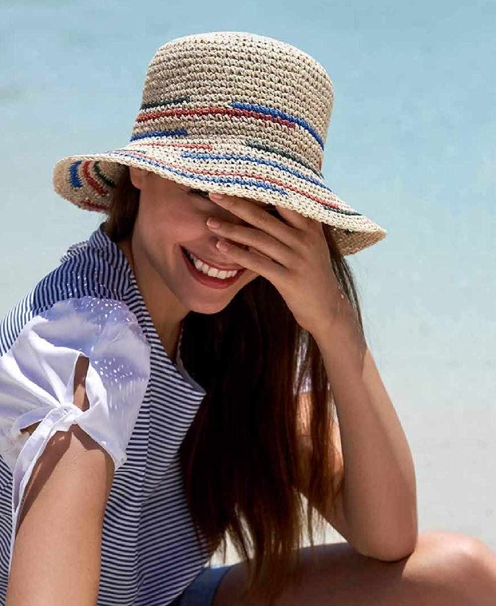 2020 Fr/ühling//Sommer Kollektion in beige Sonnenhut Damen Strandhut mit Band gr/ö/ßenverstellbar HAT YOU Sommerhut f/ür Damen faltbar f/ür den Strand
