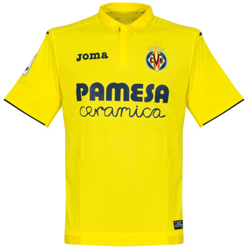 2017-2018 Villarreal Joma Home Football Shirt B073VKX3QQ Large - 40-42