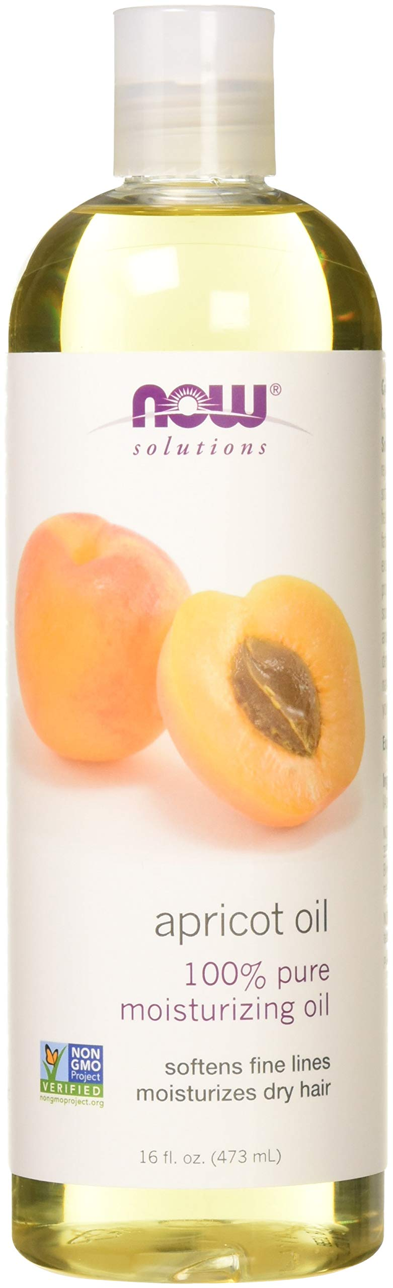 Now Solutions Apricot Oil 16 oz. (Pack of 2)