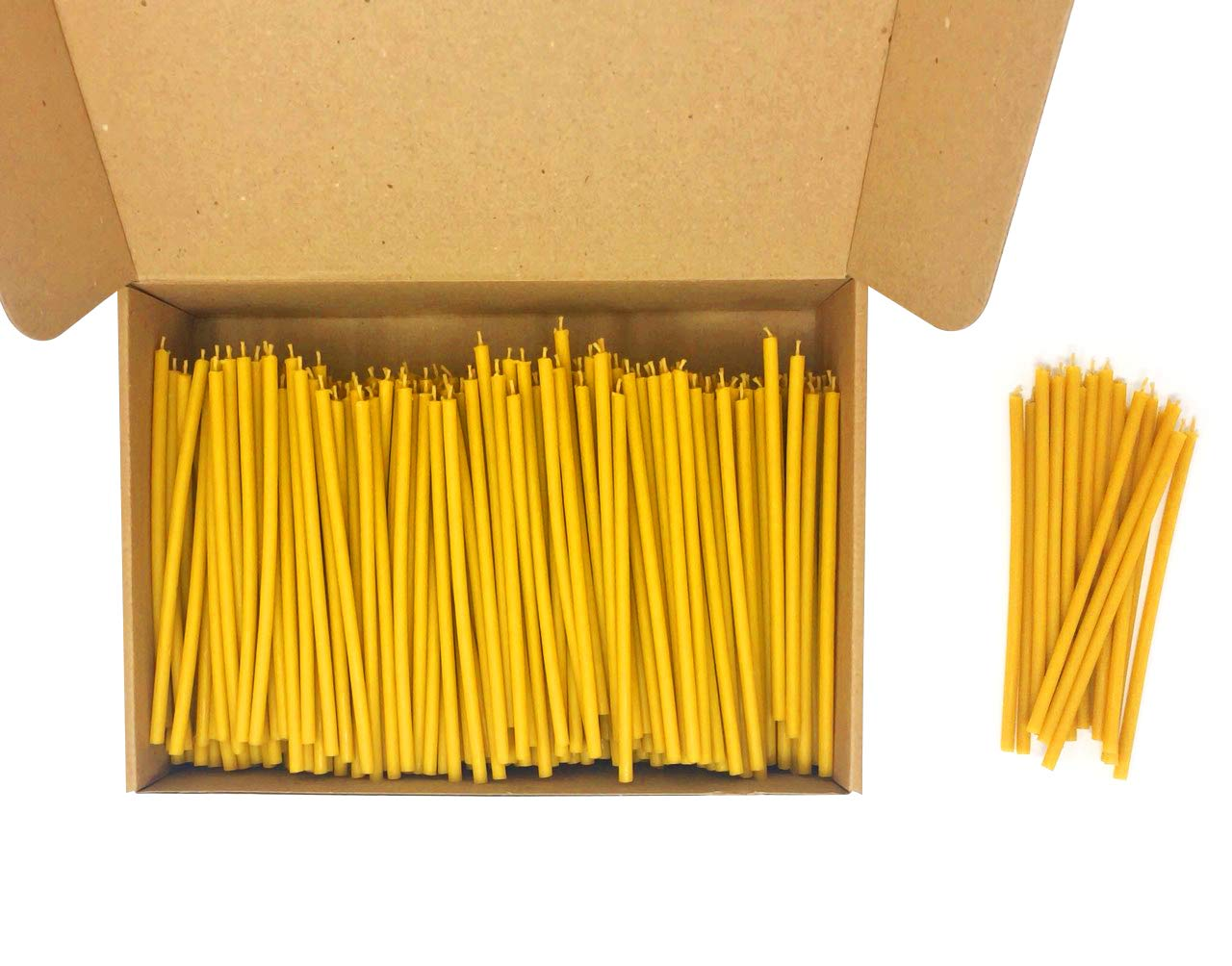 500 Votprof 100% Pure Beeswax Taper Candles ( 6 1/4'') Natural Honey Scent by Votprof