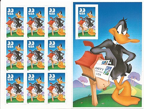 1999 Daffy Duck Pane of 10 Stamps (3306) (Stamps United Postal)