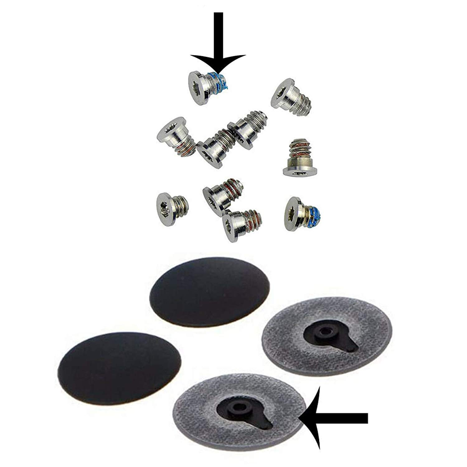 Infinite Products Replacement For MacBook Pro and MacBook Pro Retina Rubber Feet with Screws for 13