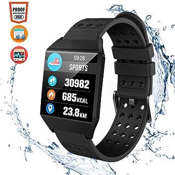 CatShin Pulsera Actividad Hombre CS04 Reloj Inteligente Mujer Niños Impermeable IP68 Reloj Deportivo con Pulsómetro Monitor de Ritmo Cardíaco Podómetro ...