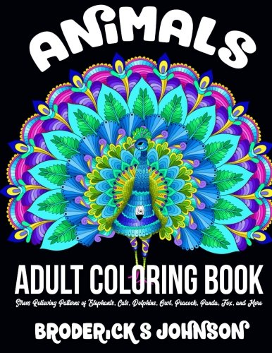 Animals Adult Coloring Book Relieving