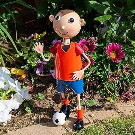 garden mile/® Novelty Metal Garden Figurines Hand Painted Sheet Metal Patio Ornaments Garden Flowerbed Scatter Decorations UV Resistant and Waterproof Outdoor Brighton Belles