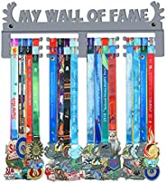 GENOVESE My Wall of Fame Medal Holder Display Hanger Rack,Sturdy Steel Metal,Wall Mounted Over 50 Medals Easy