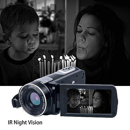 30 Videocámara Cámara de Video Cámara Digital Full HD 1080P 24.0MP ...