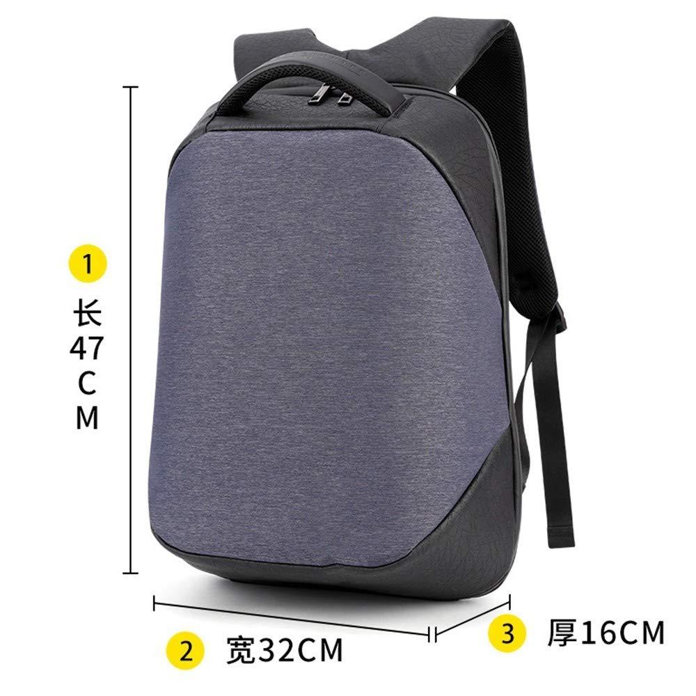 TDPYT Outdoor-Reise-Umhängetasche/Geschäft Männlichen Tasche USB-Multifunktions-Anti-Diebstahl-Computer 18 Zoll Blau