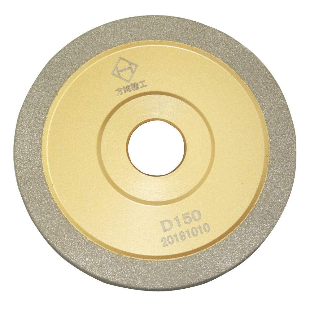 Brazed Diamond Grinding Wheel Cutter Grinder Tool Diamond Coated Flat Wheel Grit 320 (Gold, 5 inch (125mm))