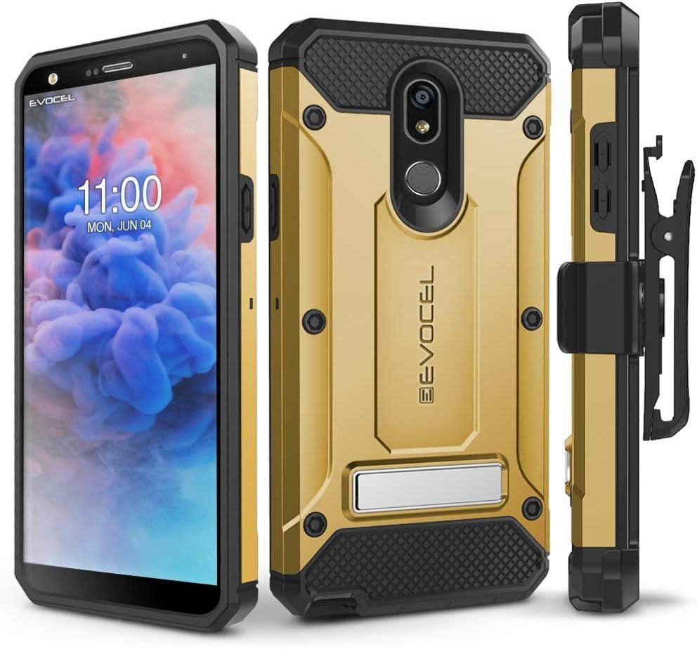 LG Stylo 5 Case, Evocel [Explorer Series Pro] Premium Full Body Case with Glass Screen Protector, Belt Clip Holster, Metal Kickstand for LG Stylo 5, Gold