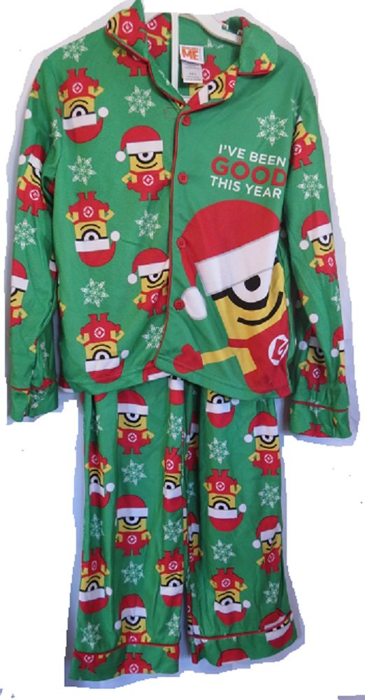 Despicable Me Youth Boys Merry Minions Ive Been Good This Year Holiday pajamas 2 piece sz 6