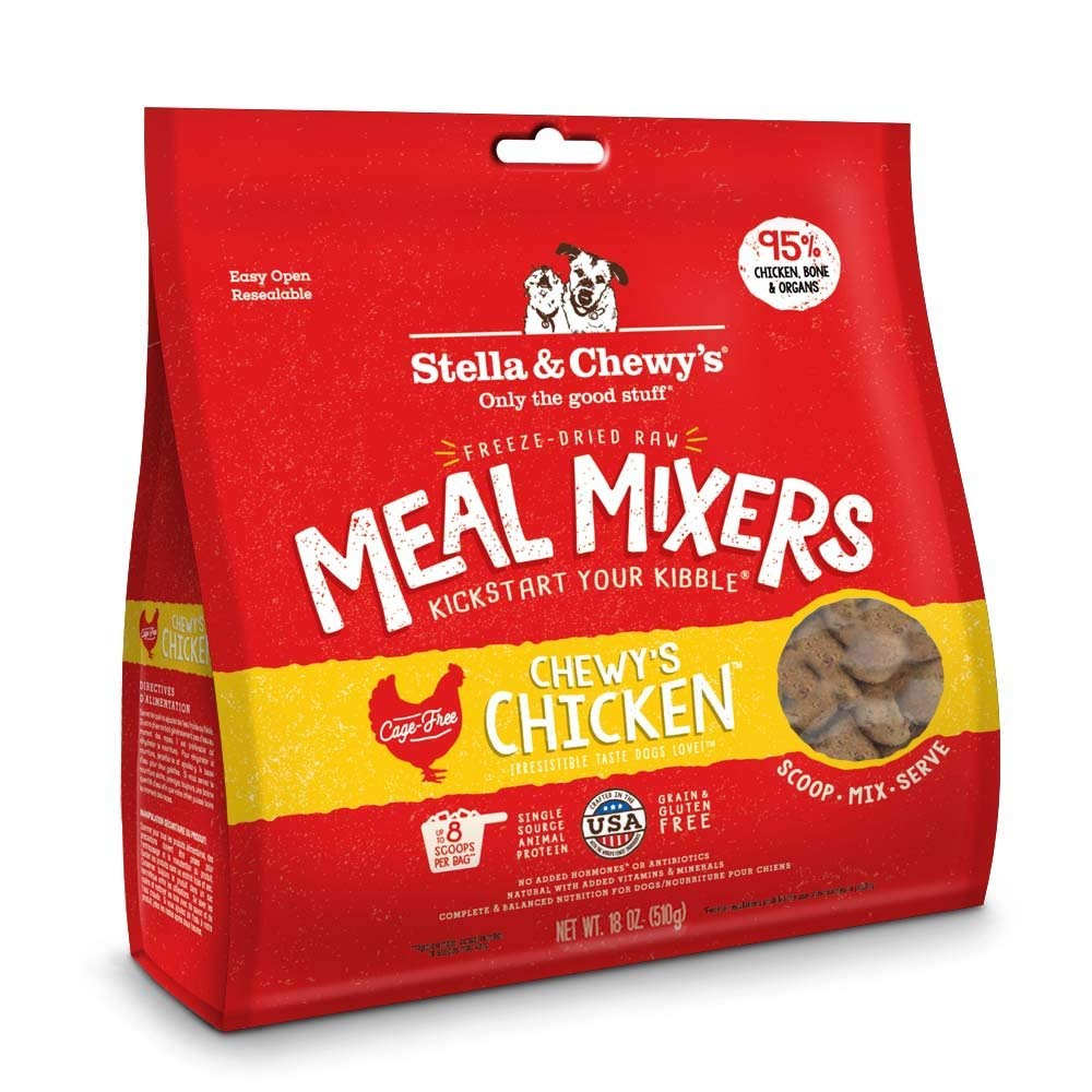 Stella & Chewy's Freeze-Dried Raw Chewy's Chicken Meal Mixers Dog Food Topper, 36 oz Bag by Stella & Chewy's