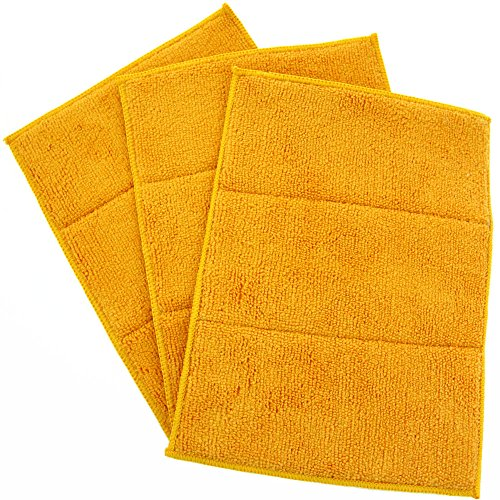 KLEIESH Double Side Microfiber Scrubber Cleaning Pads wit...