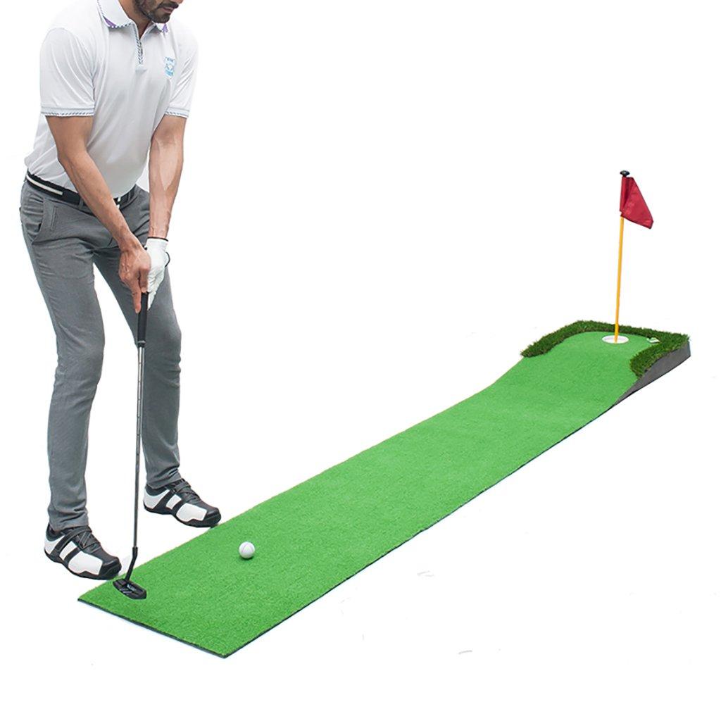 IAIZI ゴルフパットトレーナーホームゴルフパットマット - あなたのパットストロークを自宅で改善しよう! 0.5m×3m   B07KCZNVGY