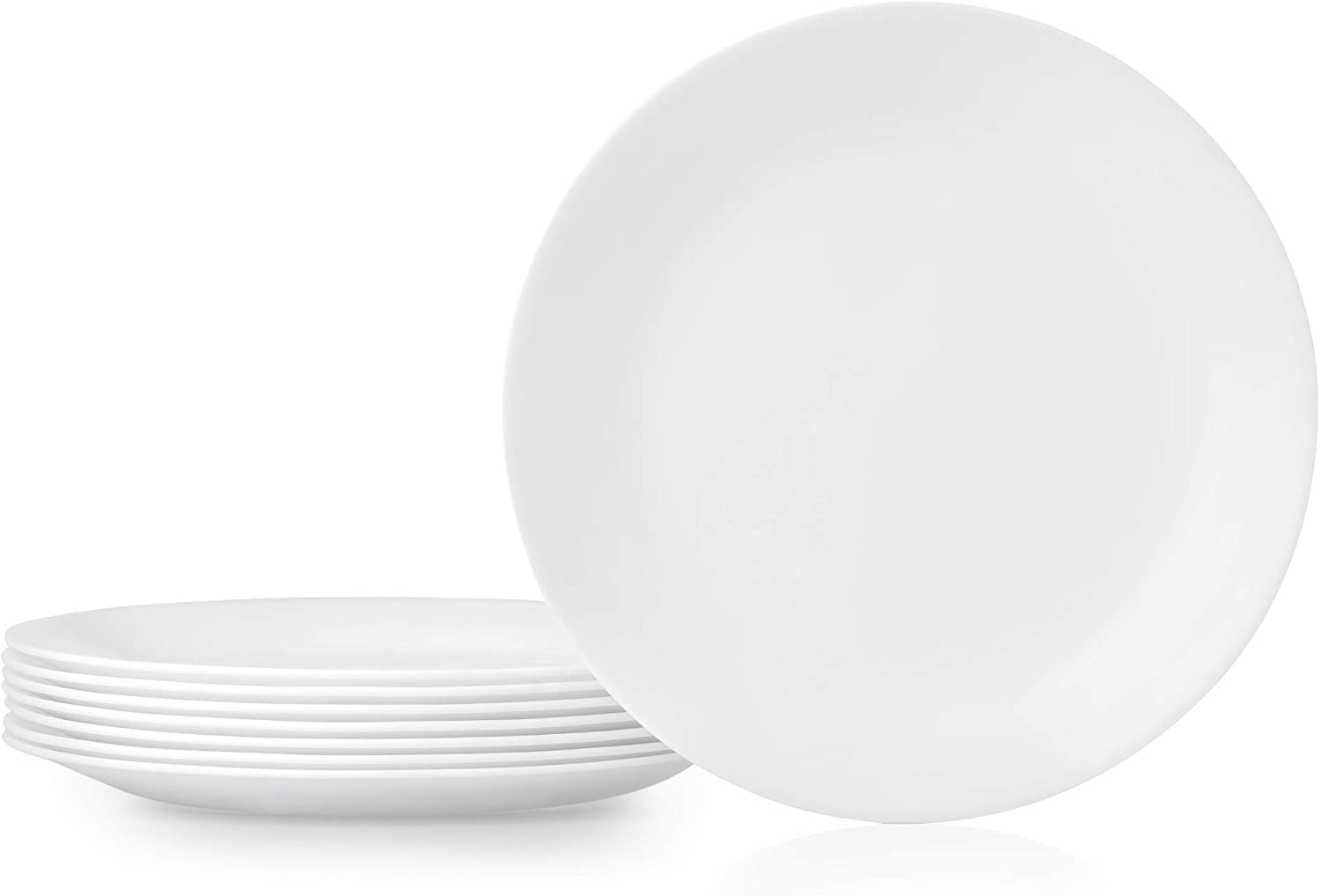 Corelle 1135857 Dinner Plates, 8-Piece, Winter Frost White