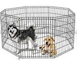 42'' Tall Wire Fence Pet Dog Folding Exercise Yard 8 Panel Metal Play-Pen