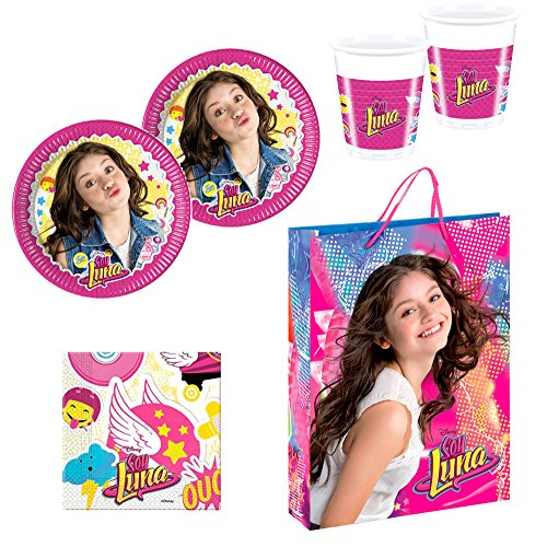 Party Supplies Pack for 16 Guests Soy Luna Disney Plates Cups Napkins Gift Bag
