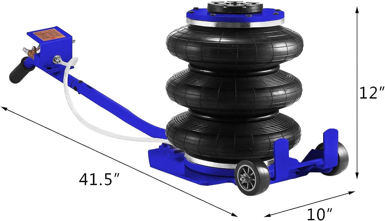 VEVOR Gato Neum/ático 3T del Color Azul Neumatico para Coche Gato de Aire de Bolsa Gato Neum/ático de Aire