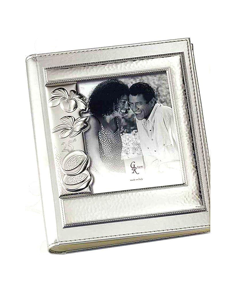 Álbum de boda, diseño de 25 aniversario, color 30 plateado/bilamina resguardos, 24 x 30 color cm/g ccd681