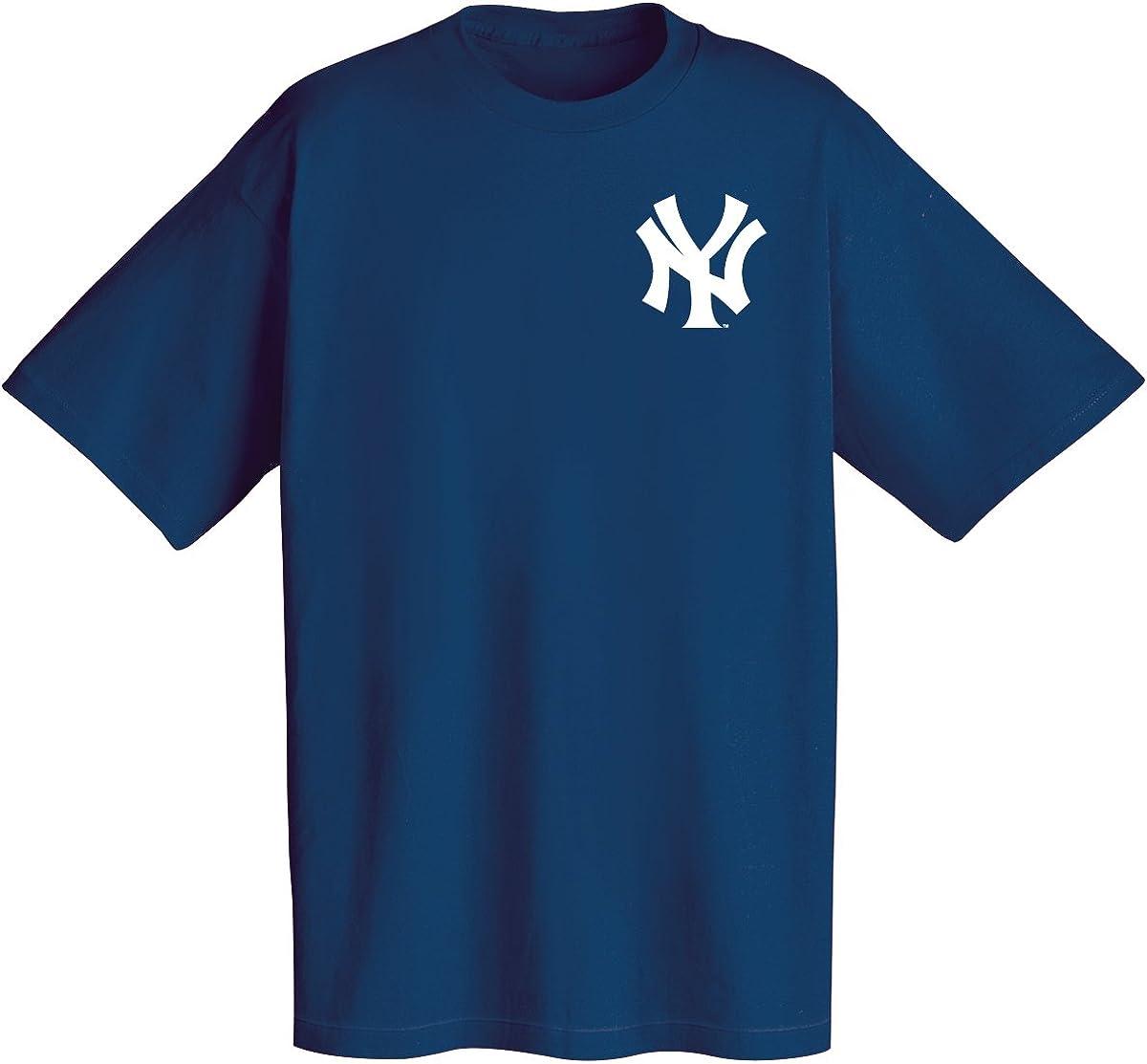 New Black New York Yankees Majestic Men/'s MLB Longline T-Shirt L XL XXL