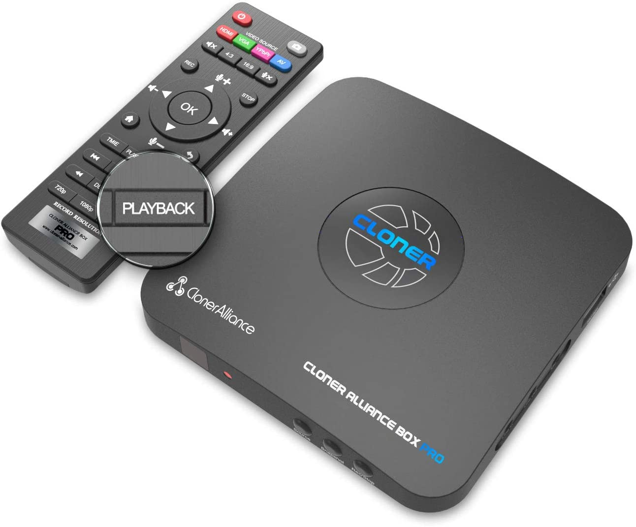 HDML-Cloner Box Pro, Capture 1080p HDMI Videos/Games and Play Back Instantly with The Remote Control, Schedule Recording, HDMI/VGA/AV/YPbPr Input. No PC Required. : Camera & Photo