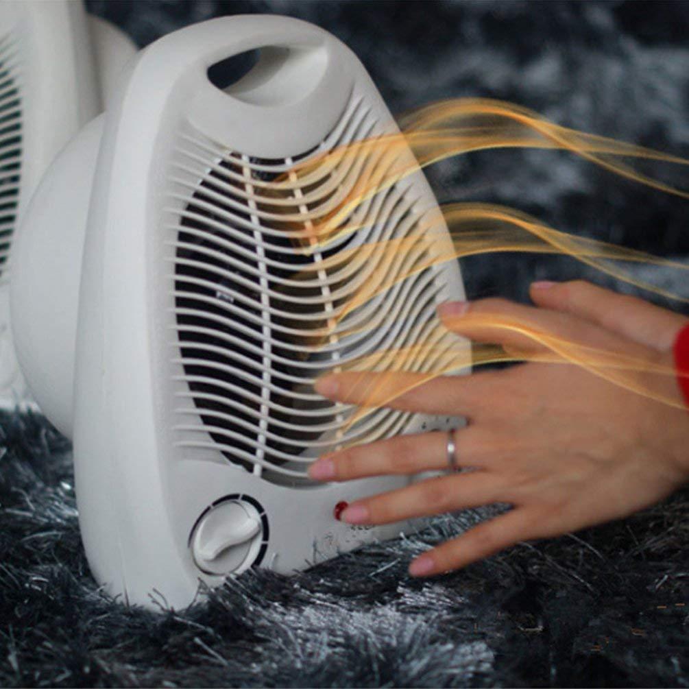 Tragbarer Heizl/üfter Verstellbarer Thermostat Bodentisch Schreibtischheizk/örper 2000W Heizung 2 Heizstufen Heizl/üfter Wei/ß