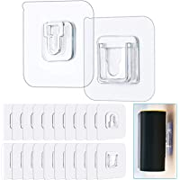 Double-Sided Adhesive Wall Hooks 20 Pcs Wall Utility Hooks 13.2 lbs Heavy Duty Self-Adhesive Hooks Without Punching and…