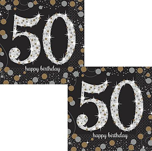 Sparkling Celebration 50 Beverage Paper Napkins (2)