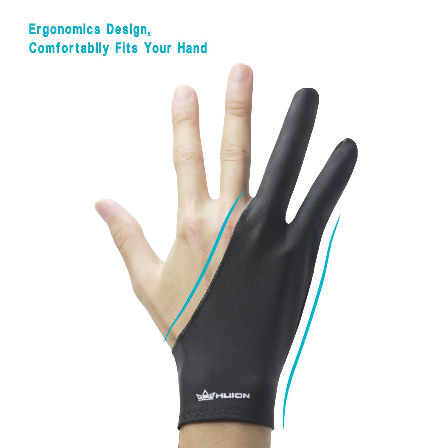 Fingerless gloves for drawing - Amazon Com Huion Artist Glove For Drawing Tablet 1 Unit Of Free Size Good For Right Hand Or Left Hand Cura Cr 01 Computers Accessories