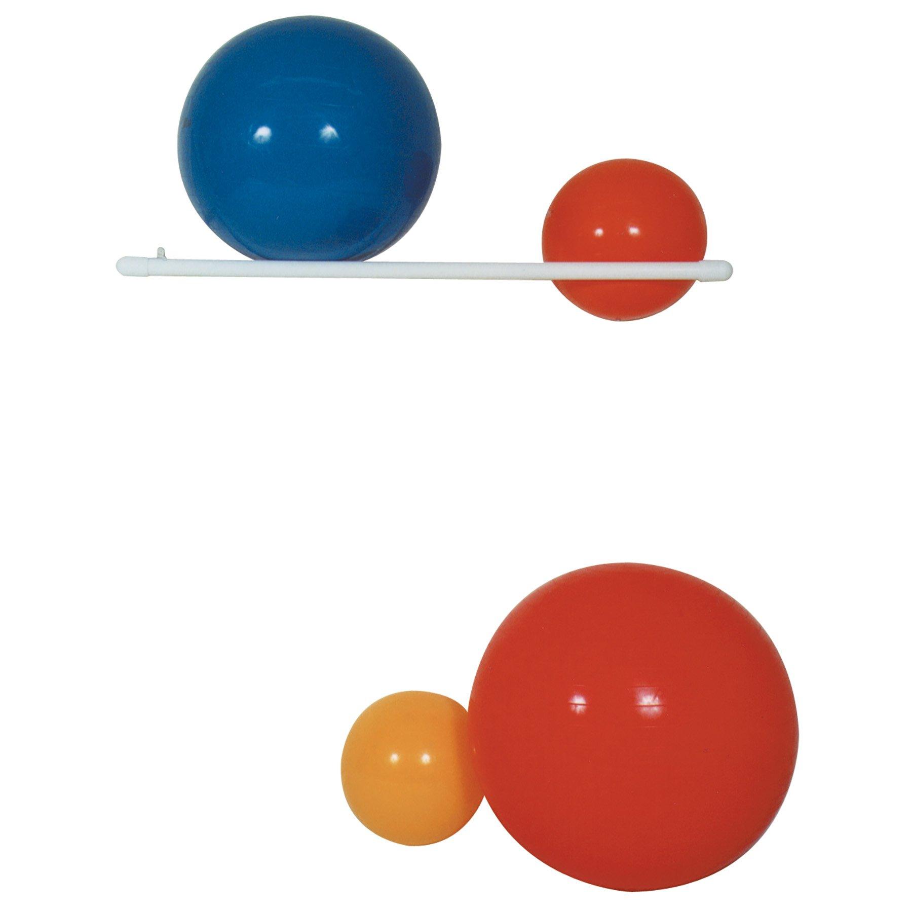 MJM International 7007 Ball Rack, 3 oz Capacity, 3'' Height x 64'' Length x 17'' Width