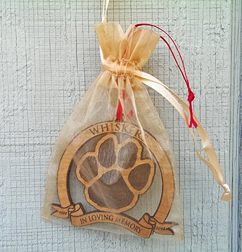 In Loving Memory Pet Memorial Ornament Personalized Christmas Dog or Cat Memorial Ornaments in Memory of Dog Holiday Tree Ornaments Engraved Gift Wood Custom Christmas Personalized by Custom-Ornaments-by-Stocking-Factory (Image #3)