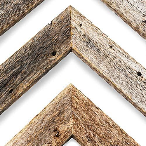 BarnwoodUSA Reclaimed Wood Chevron Arrow, Rustic Wall Mount Decor, Weathered Gray Decorations