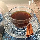 Tea Cup Set 12 Piece Cup & Saucer Set Glass Tea Party Microwave Safe Coffee or Espresso