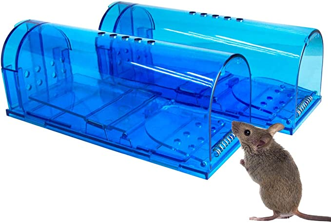 Amazon.com : Humane Mouse Trap | 2 Pack Catch and Release Mouse Traps That Work | Mice Trap No Kill for mice/Rodent Pet Safe (Dog/Cat) Best Indoor/Outdoor Mousetrap Catcher Non Killer Small Mole Capture Cage : Garden & Outdoor