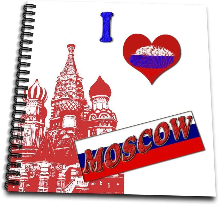 "Amazon.com: 3dRose db_216452_1 I Love Moscow. Russia. Russian Flag. Popular  Saying. Drawing Book, 8 by 8"": Arts, Crafts & Sewing"