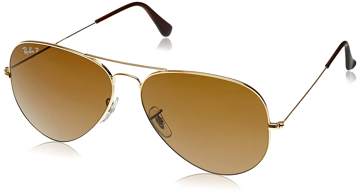 Buy Ray Ban Aviator Sunglasses Golden Rb3025 001 3355 At Amazon In