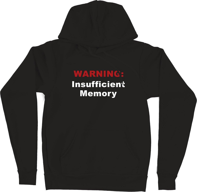 Black VectorPlanet Warning Insufficient Memory Hoodie