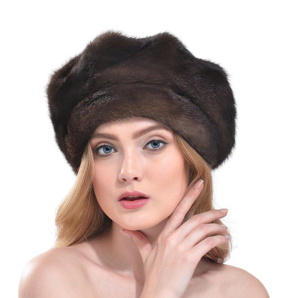 Bellefur Ladies Real Mink Beret Hat