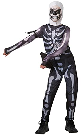 Fortnite-300194-Tw Disfraz Skull Trooper, Multicolor (Rubies 300194-TW)