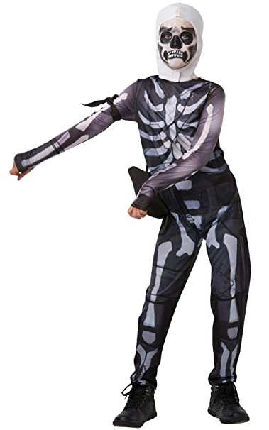 Amazon.com: Rubies Fortnite Skull Trooper - Traje de baño ...
