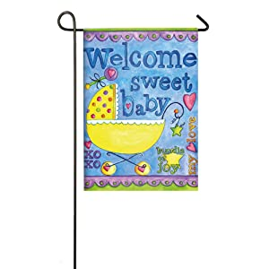 Welcome Sweet Baby Garden Flag