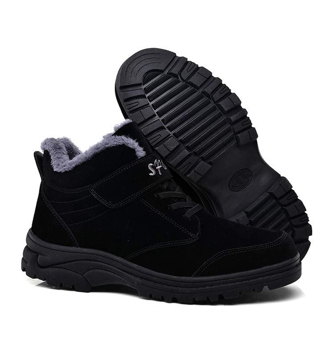 DANDANJIE Herren Schuhe Winter Warm Wandern Wandern Wandern Trekking Schuhe Hohe Turnschuhe Anti-Slip Lace-up Klettverschluss Lässige Outdoor-Schuhe d186fb