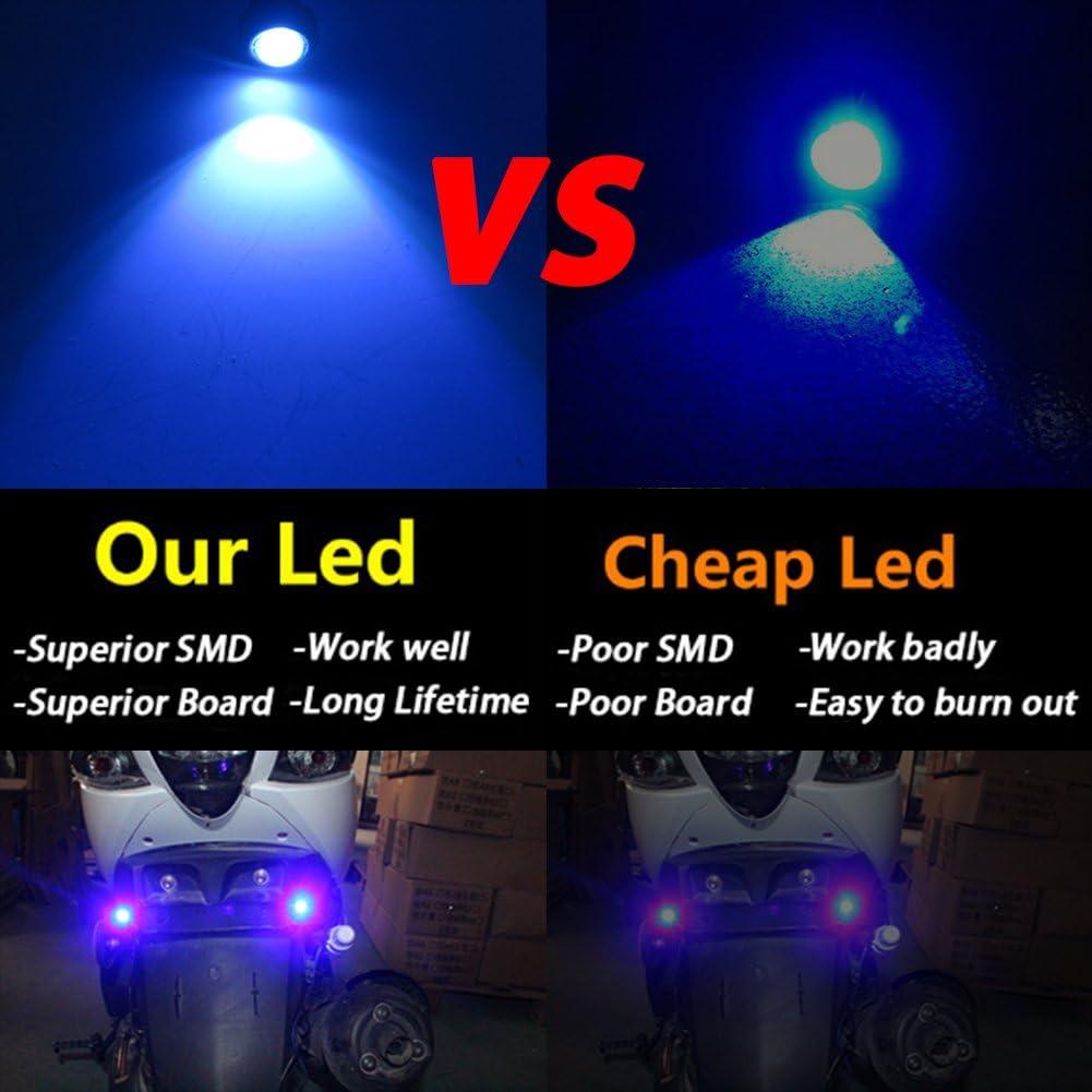 Pack of 10 TABEN 18mm LED Green Eagle Eye Car Light High Power 9W LED Daytime Running DRL Tail Reverse Backup Parking Signal Bulbs 12V