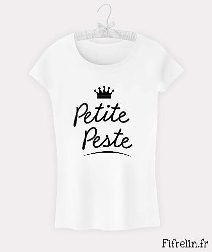 a94d989291b9e Tee shirt fille Petite peste 6 8 10 12 14 16 ans  Amazon.fr  Handmade