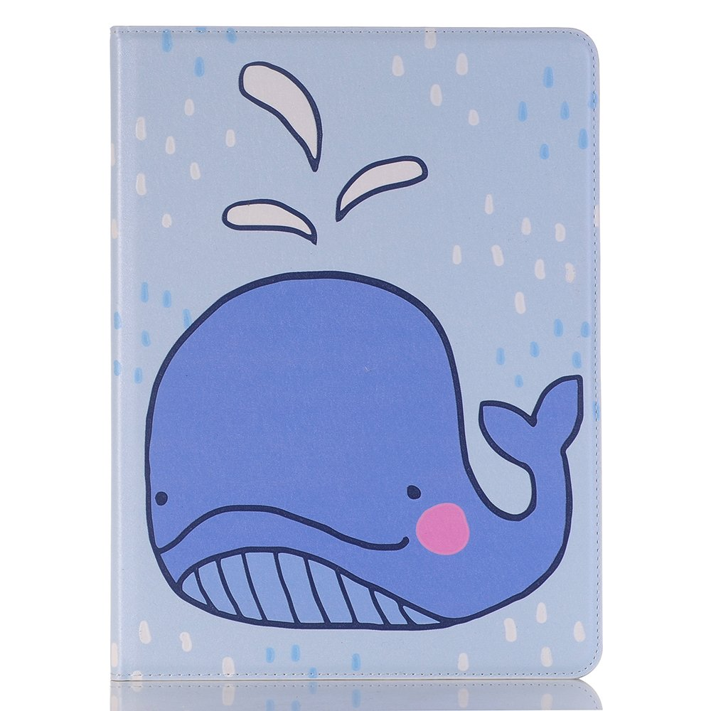 MIYA LTD 10.5'' iPad case Cartoon Cover Dolphins,Simple iPad Pro 10.5 inch Case PU leather, Cut Cover Luxury Folio Case Stand With Card Slots Smart Screen Protective Cover for iPad Pro10.5