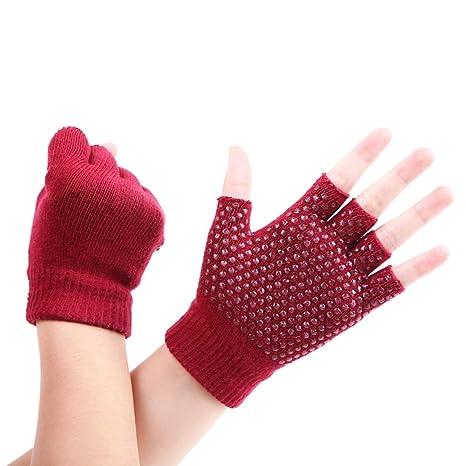 Professional Cotton Non-slip Yoga Gloves Set Dancing Pilates ...