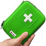 MediSpor 100-Piece First Aid Kit, Green Hard Case