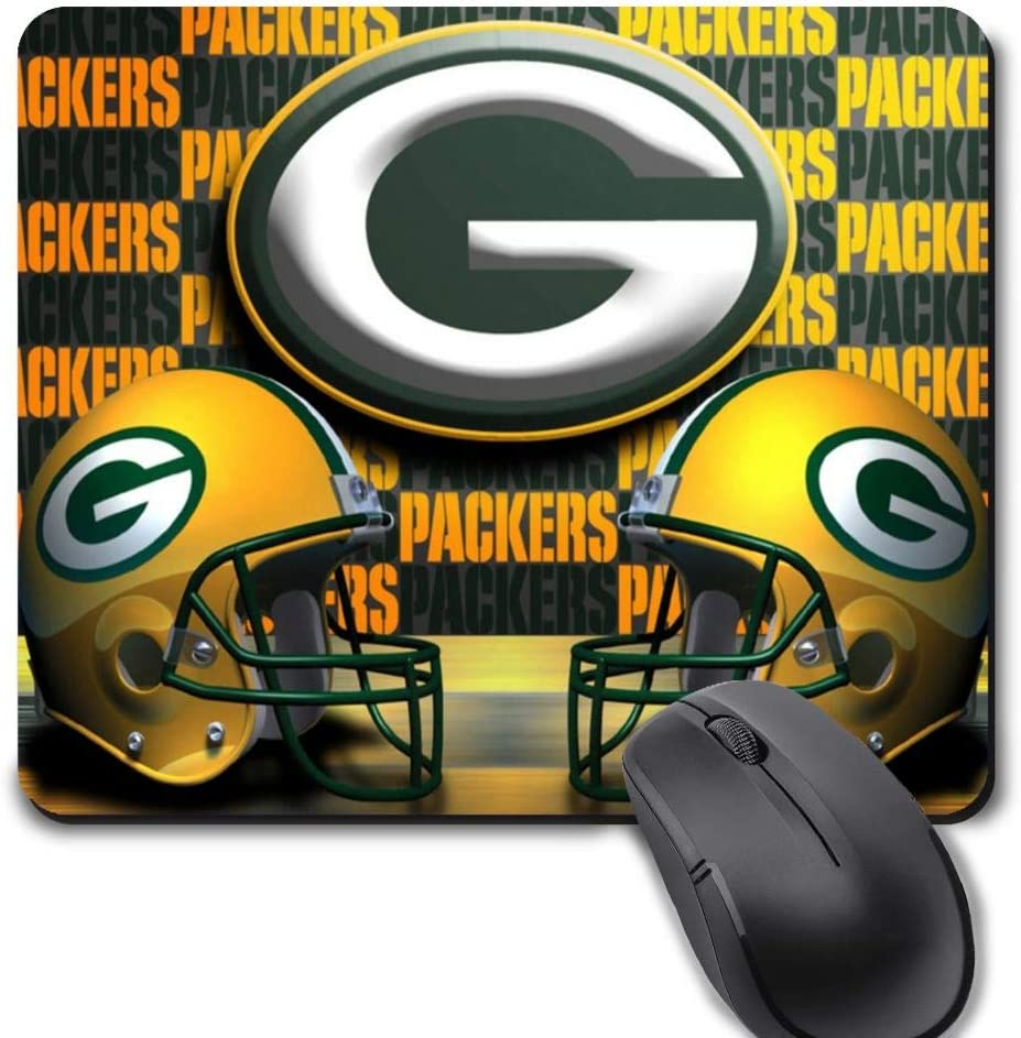 Gaming Mouse Pad,Life Needs Sport Mousepad with Non-Slip Rubber Base for Laptop Computer Desktop Mat - Green Bay Football Team